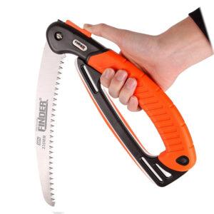 เลื่อยพับ FINDER ขนาด 9 นิ้ว ใบมีด 3 แฉก ด้ามจับกันลื่น ใช้ตัด ไม้ กิ่งไม้ PVC ไม้ไผ่ ฯลฯ