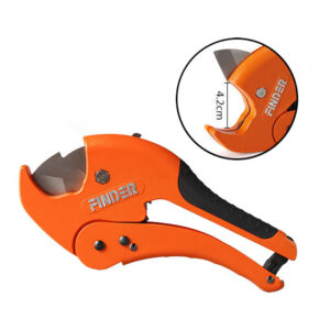กรรไกรตัดท่อ PVC แบรนด์ FINDER ขนาด 8.5 นิ้ว ใบมีดหนา สามารถตัดท่อใหญ่สุด 4.2 cm.
